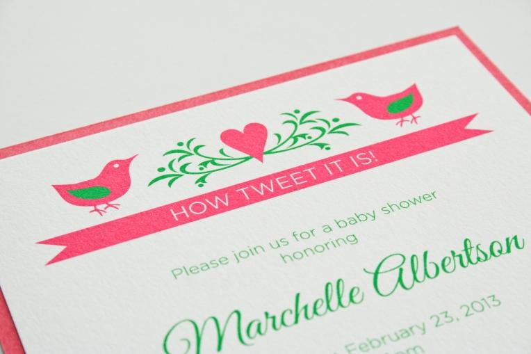Sweet Bird Invitation (c) hitchcock creative