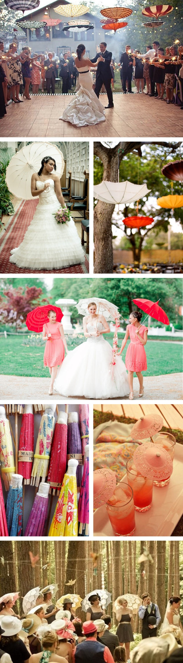wedding parasols - hitchcock creative