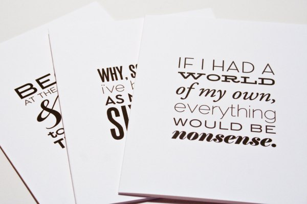 Alice in Wonderland - box set of Quotation Notecards by Hitchcock Creative on Etsy