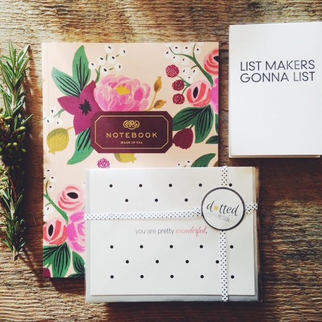 The Brand Market DC giveaway with items from Rifle Paper Co., Sapling Press, and Dotted Design!