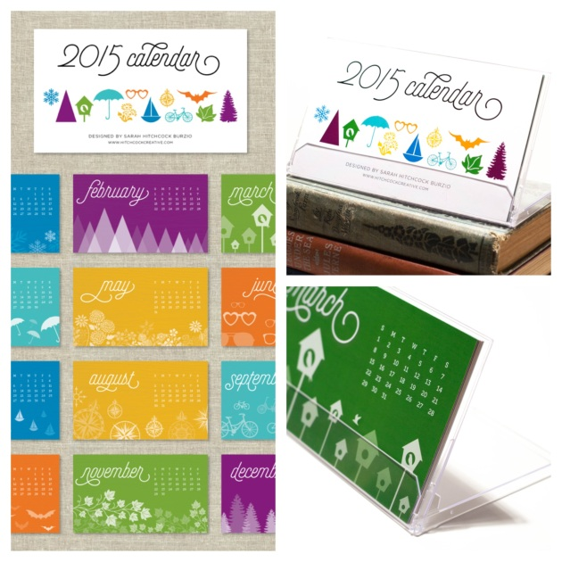 2015 Desktop Calendar by Hitchcock Creative